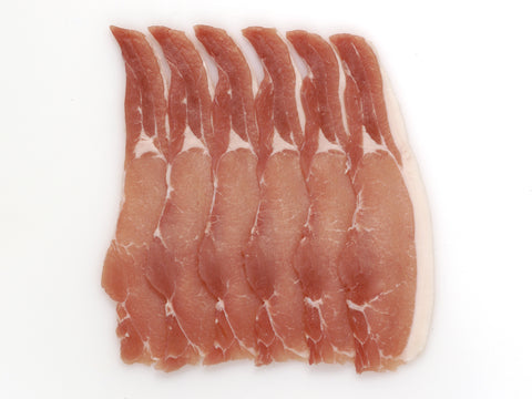 Free Range Dry Cured Rindless Back Bacon
