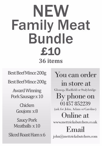 *NEW* £10 Family Meat Bundle