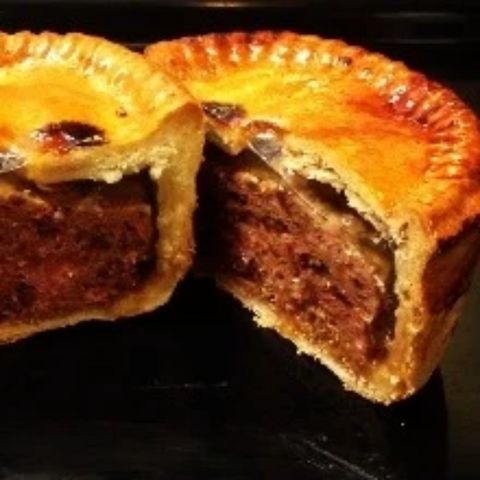 Family Sized Pork & Caramelised Onion Pie