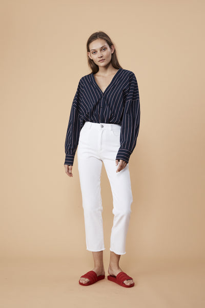 CAPTAIN SHIRT - NAVY STRIPE