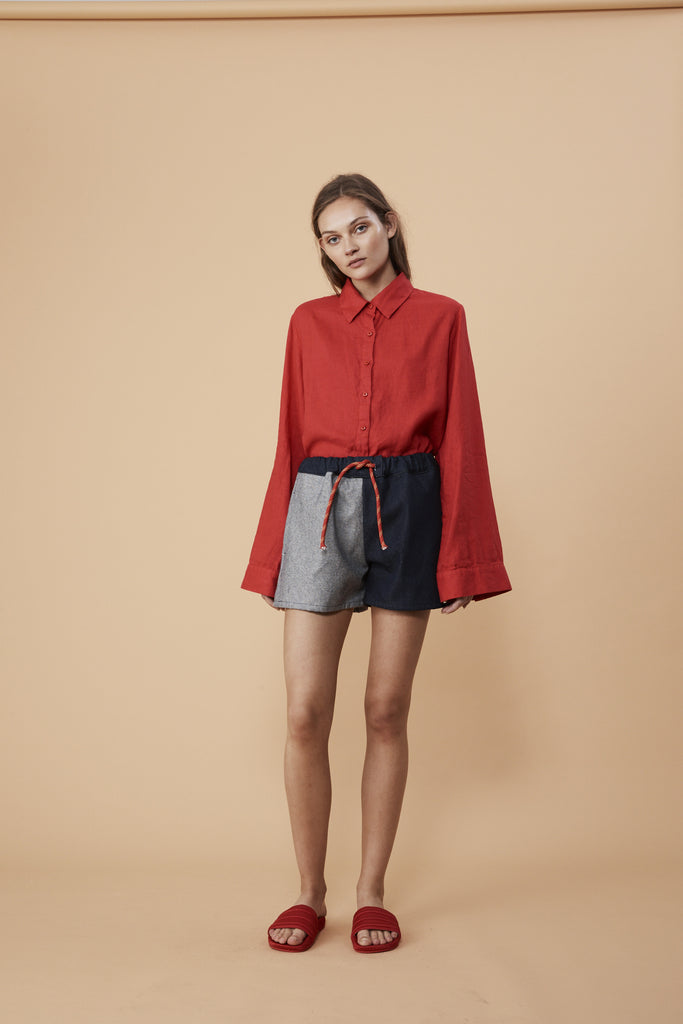 HARBOURSIDE SHIRT - ROUGE