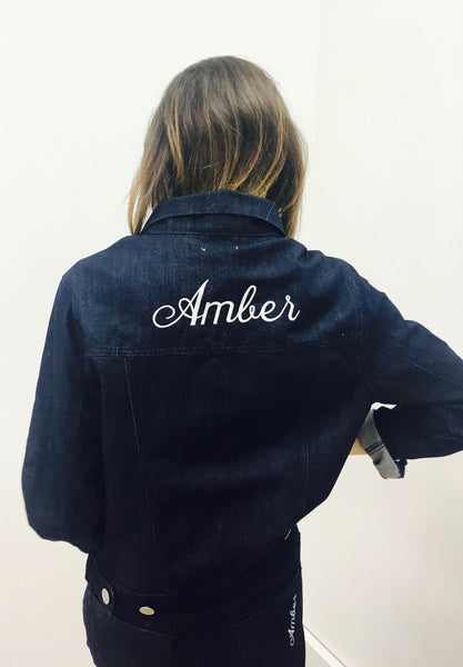 EMBROIDERED EARTH LAYERS JACKET INDIGO