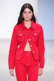 EARTH LAYERS JACKET - RED DENIM