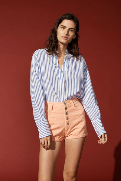 AIR SHIRT WHITE WITH THIN BLUE STRIPE