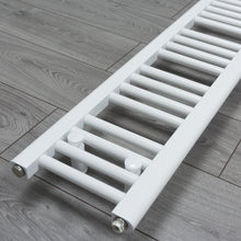 Load image into Gallery viewer, 200mm x 1800mm White Heated Towel Rail Radiator Close Up Image