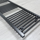 Heated White Towel Warmer Rack Close Up Image