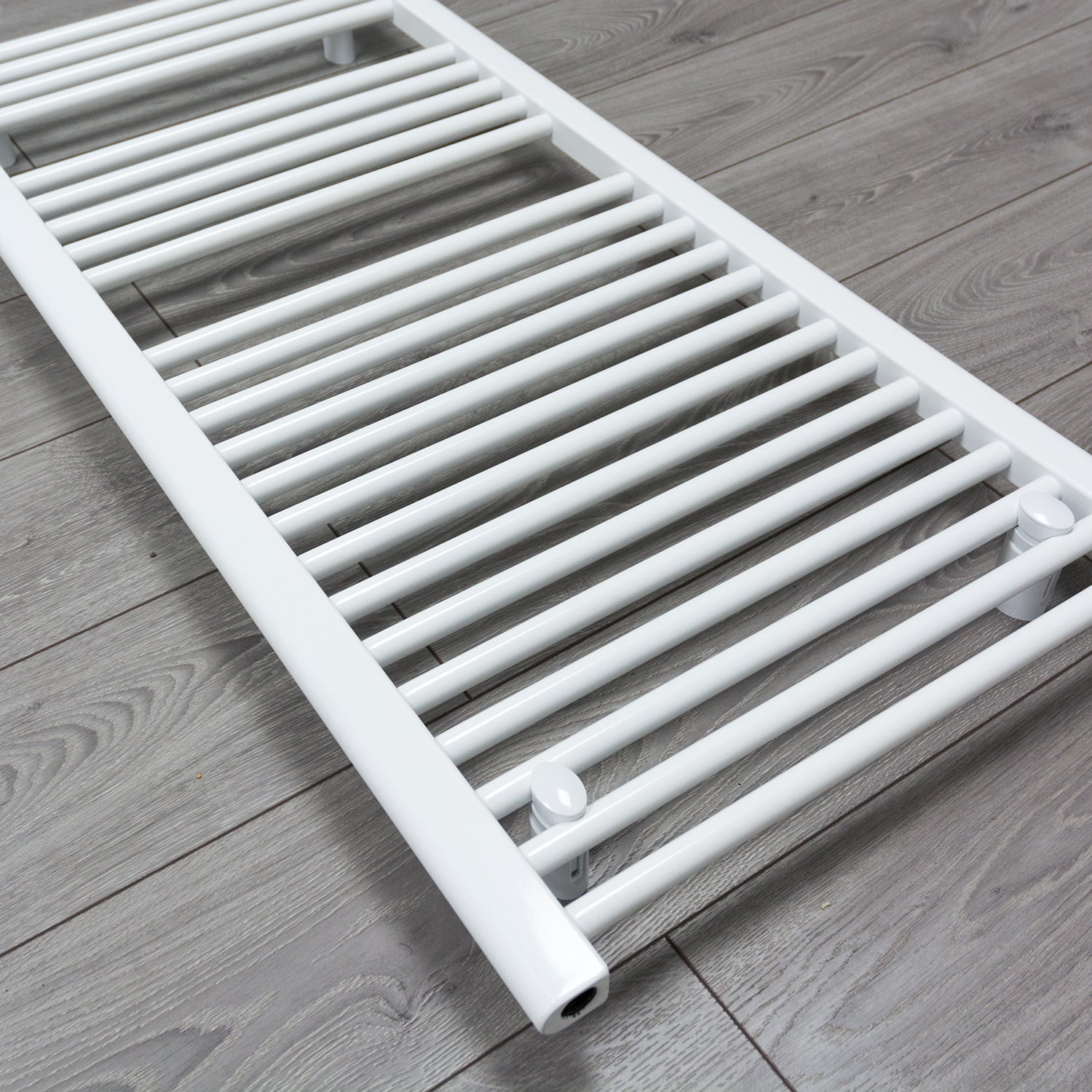 1200 mm High 500 mm Wide Heated Flat Towel Rail Radiator White Central heating