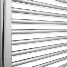 Load image into Gallery viewer, 1400 mm High x 800 mm Wide Heated Straight Towel Rail Radiator Chrome