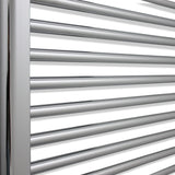 800mm High 650mm Wide Heated Straight Towel Rail Radiator Chrome - Elegant Radiators