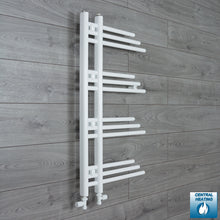 Load image into Gallery viewer, 900 mm High x 500 mm Wide Fuji Designer Heated Towel Rail Radiator White