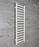 500mm Wide 1400mm high Square Tube Designer Heated Bathroom Towel Rail Radiator White Antracite