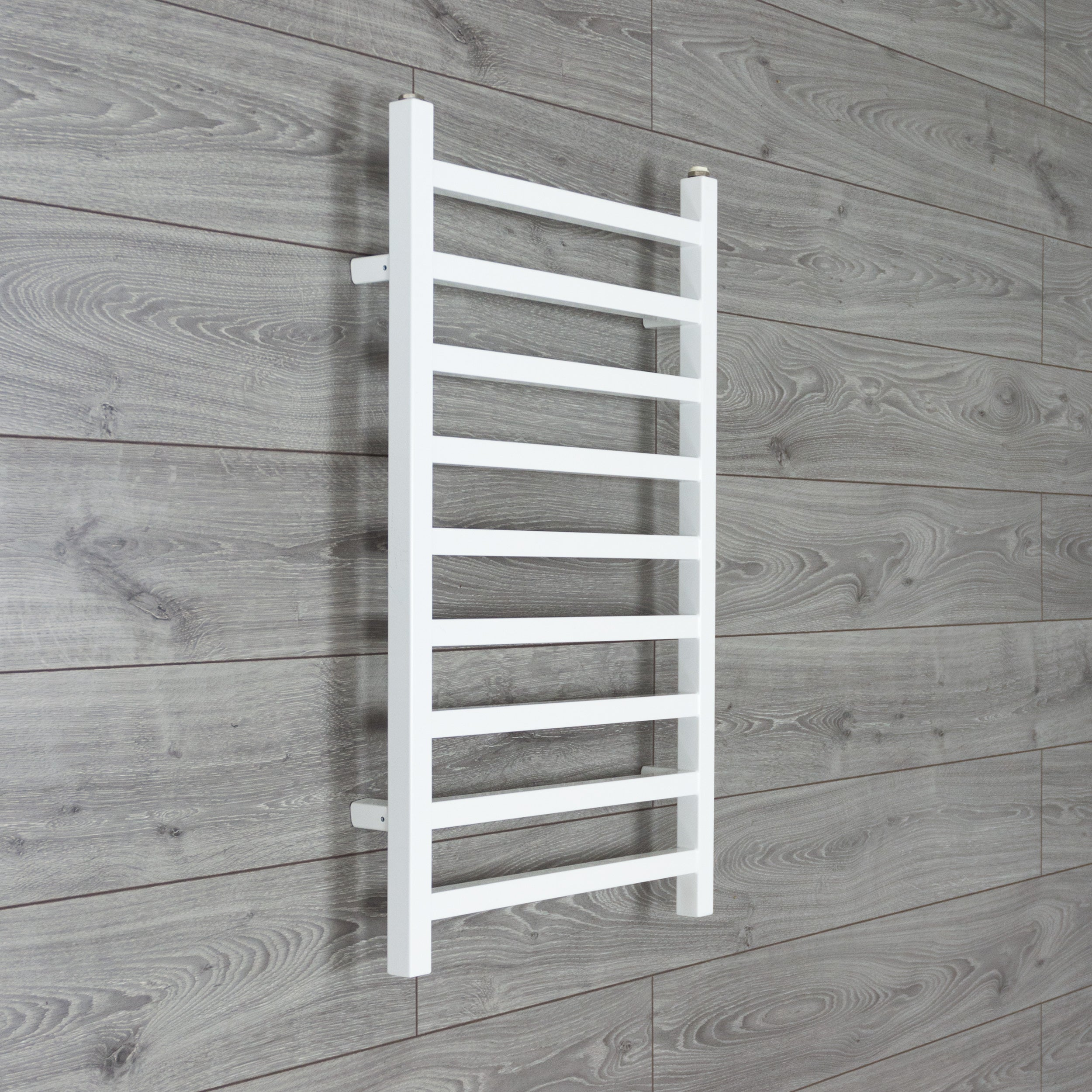 500mm Wide 800mm high Square Tube Designer Heated Bathroom Towel Rail Radiator White Antracite