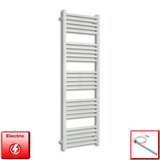 500mm Wide 1500mm High Pre-Filled Chrome Electric Towel Rail Radiator With Single Heat Element