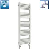 500mm Wide 1500mm High Chrome Towel Rail Radiator With Straight Valve