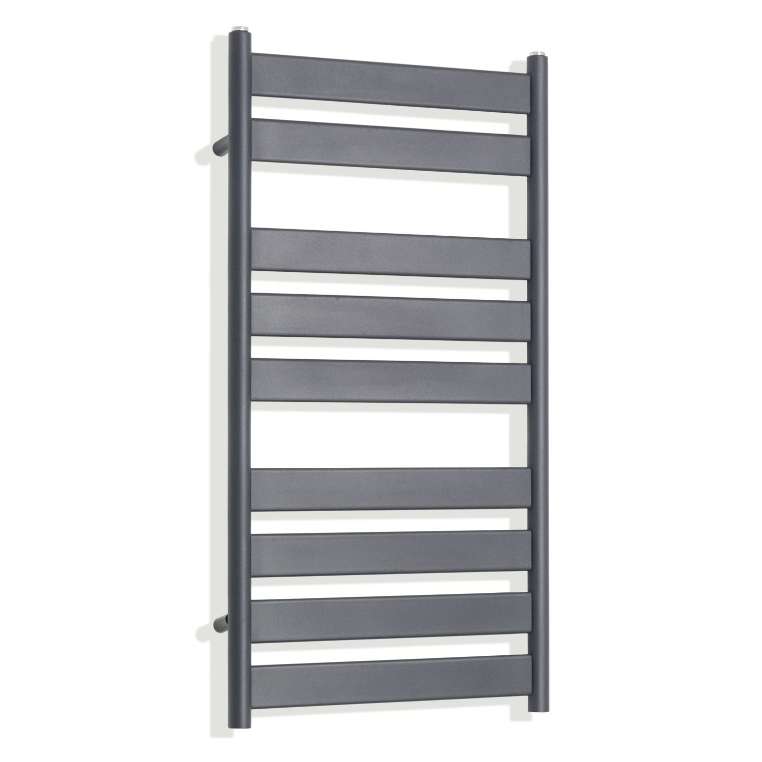 950 x 500 mm Anthracite Heated Flat Panel Towel Rail Radiator Central heating