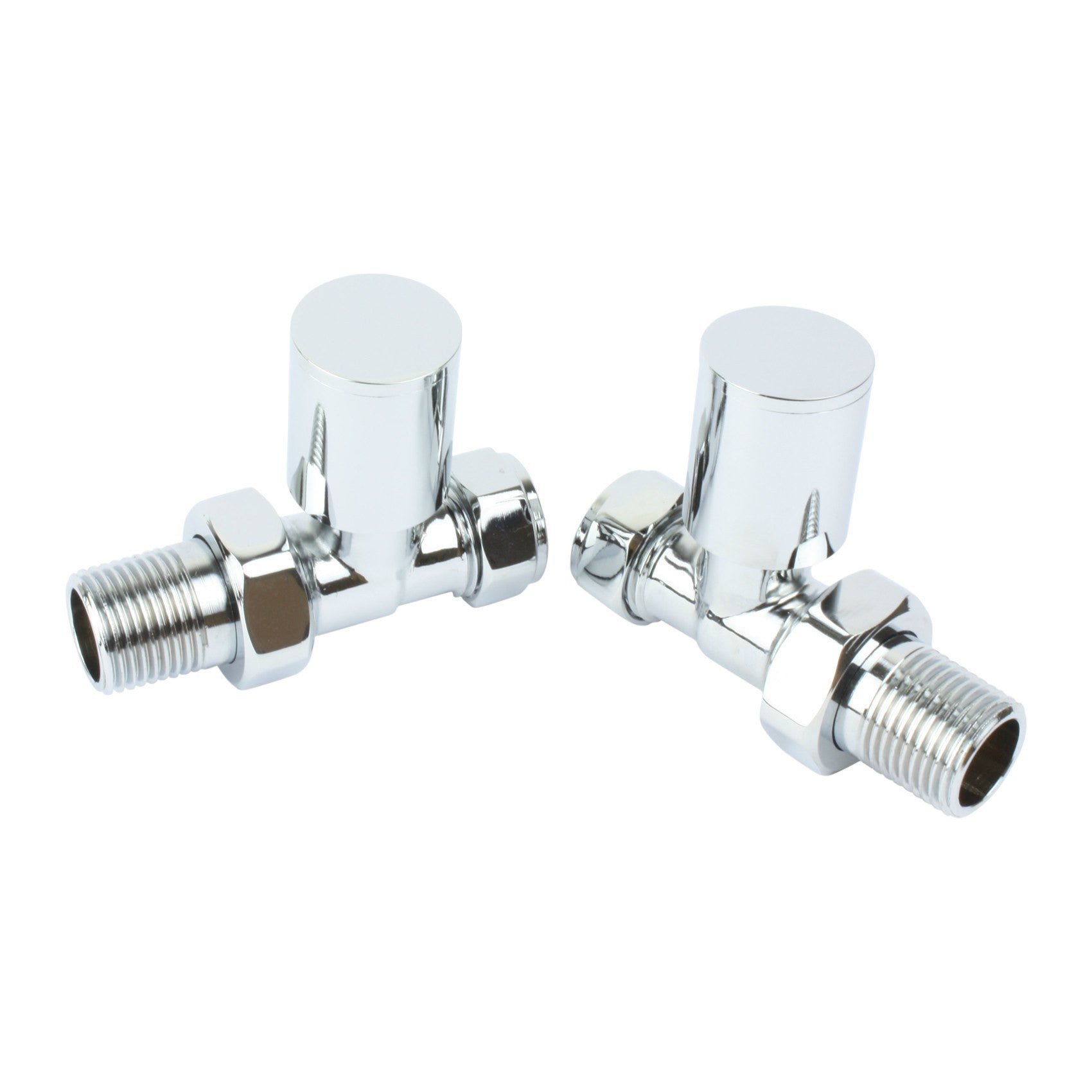 Sparkling Chrome Mini Straight Valves For Wall Pipes