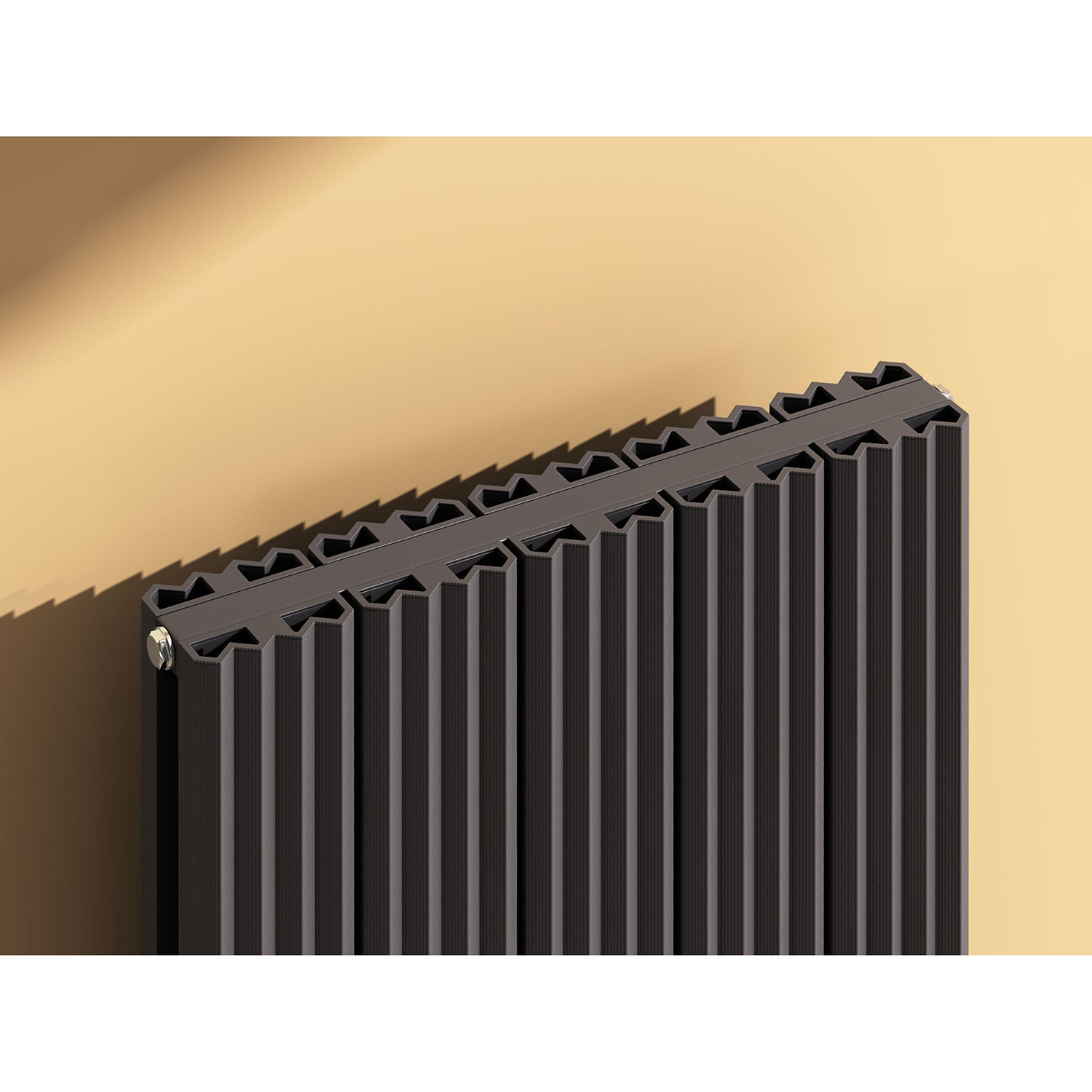 REINA ANDES WHITE VERTICAL RADIATOR CLOSE UP