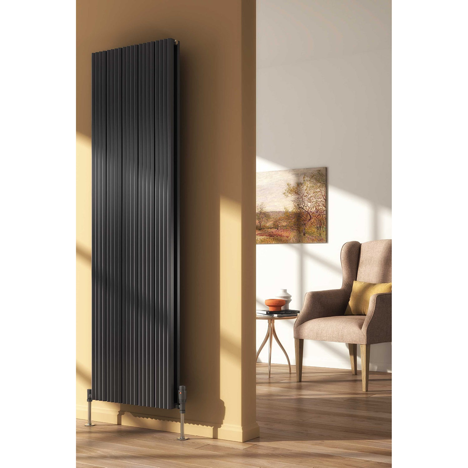 REINA ANDES ANTHRACITE VERTICAL RADIATOR