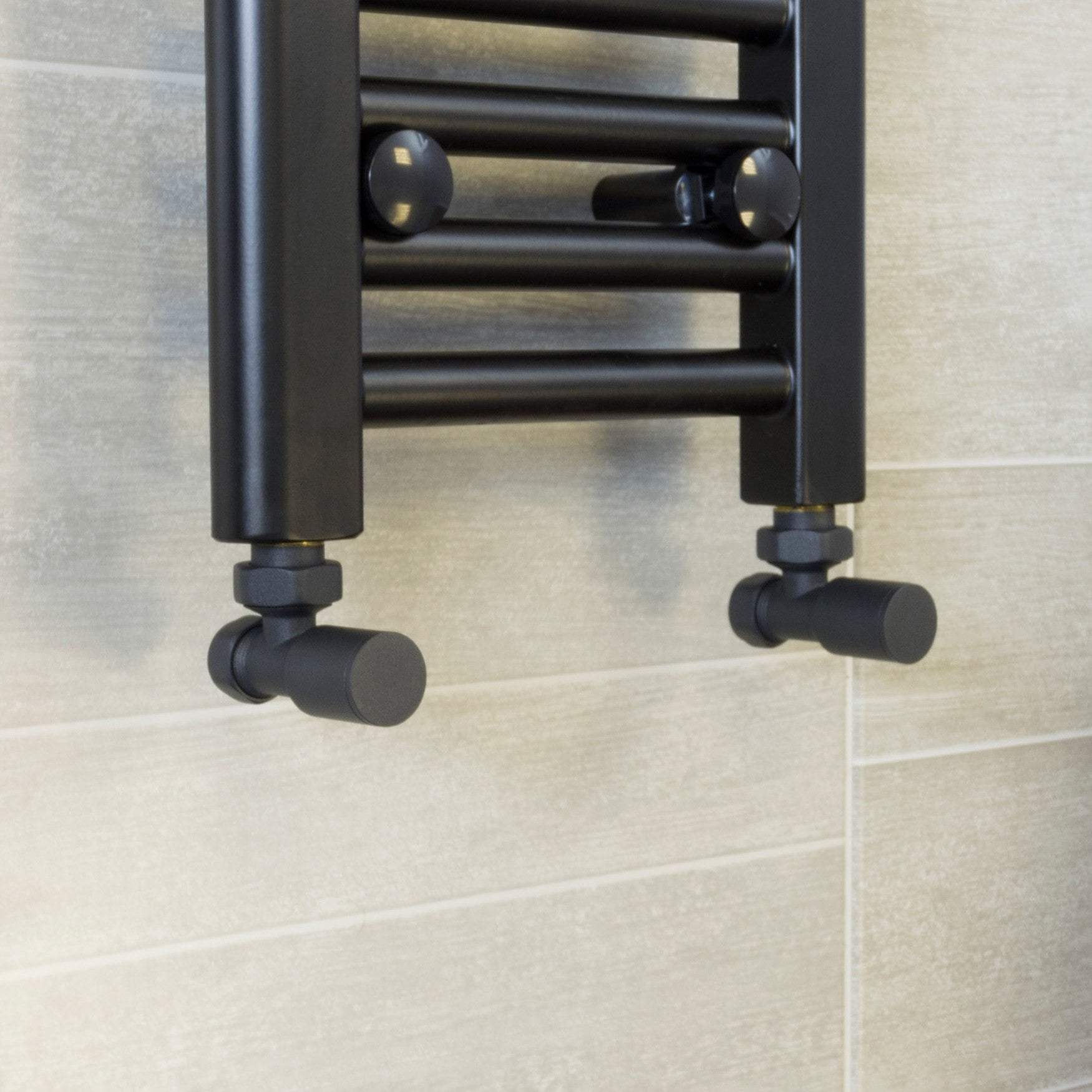 Anthracite Angled Towel Rail Radiator Valve (Pair of 2 Valves) - Elegant Radiators