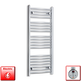 1100mm High 450mm Wide Pre-Filled Electric Heated Towel Rail Radiator Straight Chrome