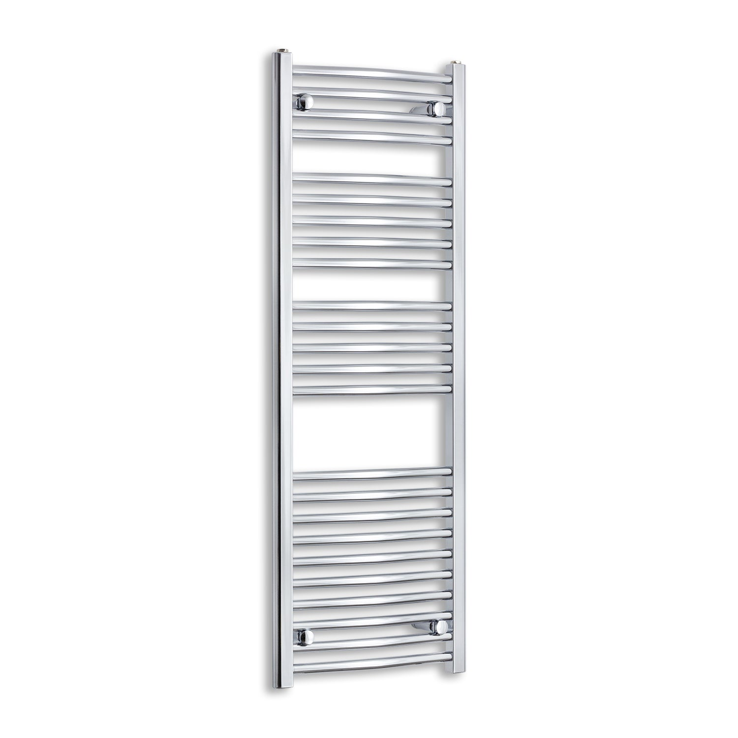 450mm Wide 1300mm High Chrome Towel Rail Radiator