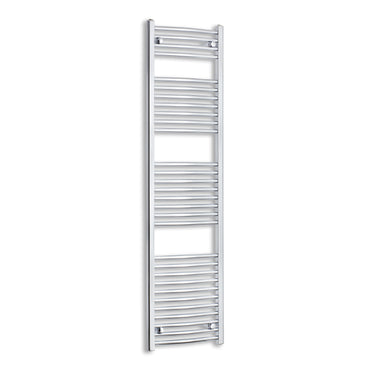 450mm Wide 1700mm High Curved Chrome Towel Rail Radiator