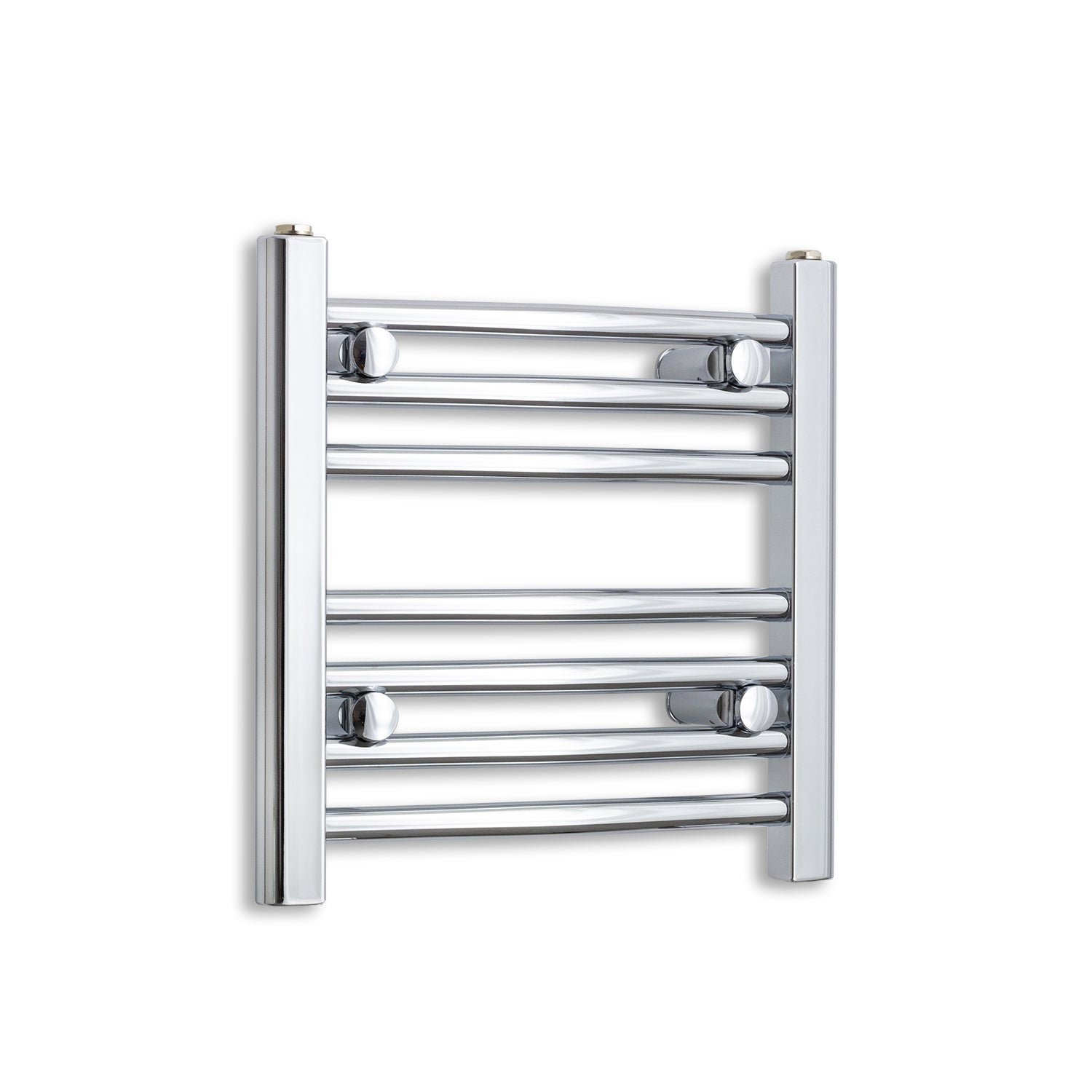 400mm Wide 400mm High Chrome Towel Rail Radiator