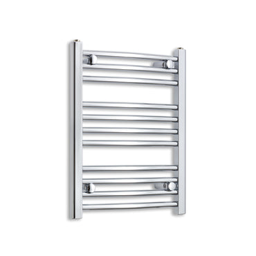 400mm Wide 600mm High Chrome Towel Rail Radiator