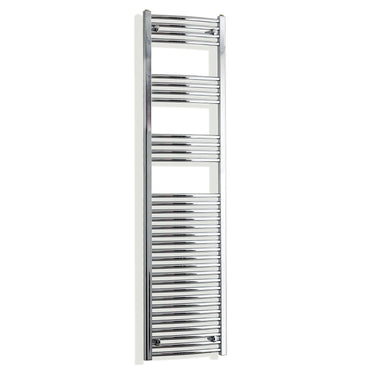 450mm Wide 1800mm High Chrome Towel Rail Radiator