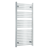 550mm Wide 1200mm High Chrome Towel Rail Radiator