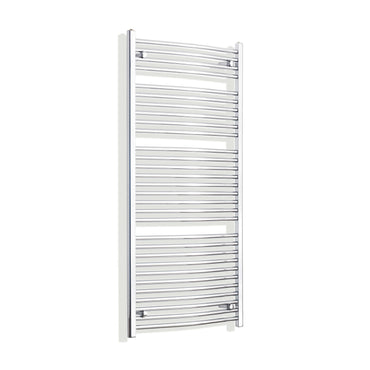 750mm x 1500mm High Curved Chrome Towel Rail Radiator