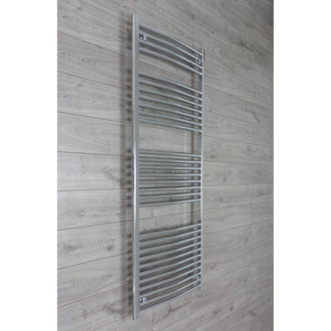 750mm Wide 1800mm High Chrome Towel Rail Radiator