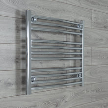 Load image into Gallery viewer, 700mm Wide 600mm High Chrome Towel Rail Radiator