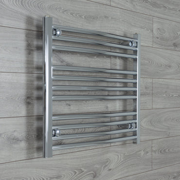 700mm Wide 600mm High Chrome Towel Rail Radiator