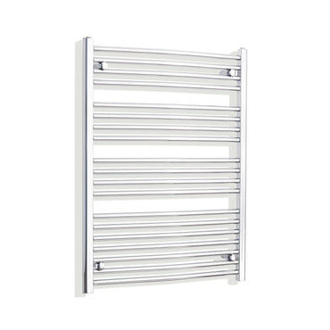 750mm x 1000mm High Curved Chrome Towel Rail Radiator