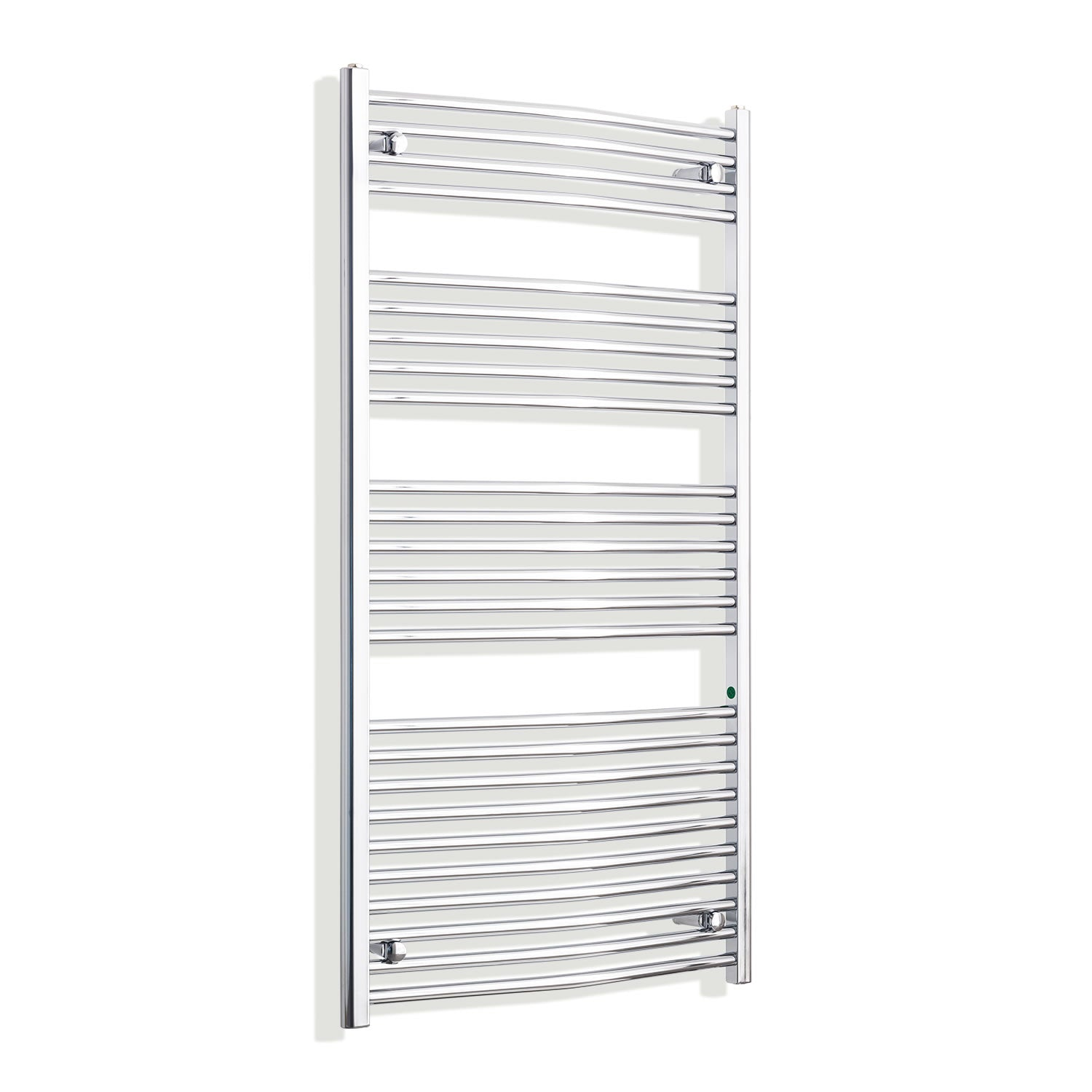 750mm x 1400mm High Curved Chrome Towel Rail Radiator