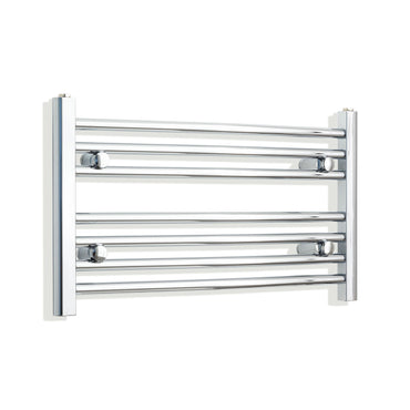 750mm x 400mm High Curved Chrome Towel Rail Radiator