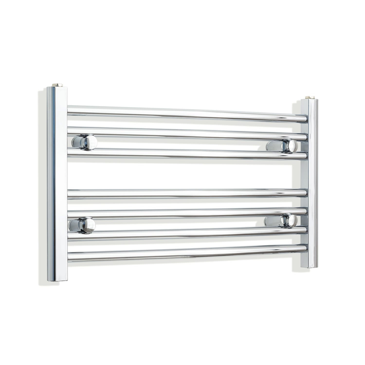 700mm Wide 400mm High Chrome Towel Rail Radiator