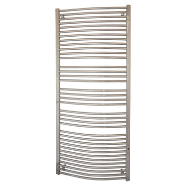 750mm x 1800mm High Curved Chrome Towel Rail Radiator