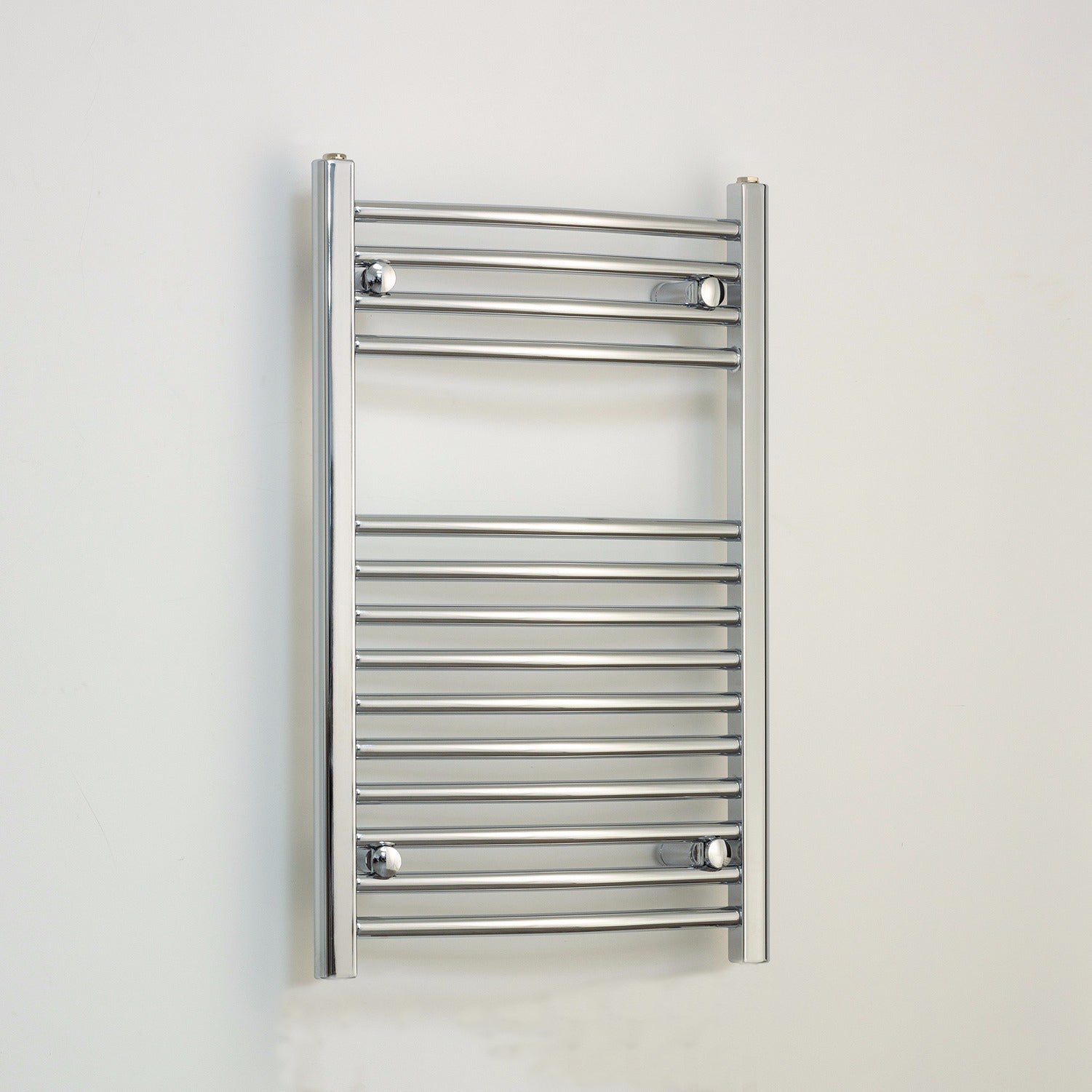 500mm Wide 800mm High Chrome Towel Rail Radiator