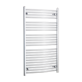 700mm x 1200mm High Curved Chrome Towel Rail Radiator