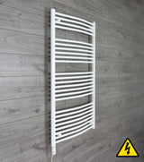 1300 mm High x 750 mm Wide Straight White Heated Towel Rail Radiator thermostatic element