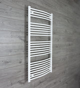 1300 mm High x 750 mm Wide Straight White Heated Towel Rail Radiator