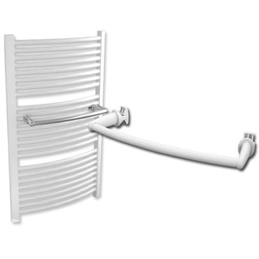 Towel Bar For Curved Towel Radiators White / Chrome - Elegant Radiators