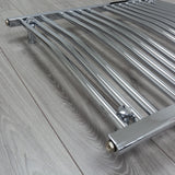 Heated Curved Chrome Towel Warmer Rack Close Up Image
