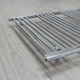 600mm High 1300mm Wide Pre-Filled Electric Heated Towel Rail Radiator Straight Chrome