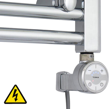 Chrome Thermostatic Heating Element - Moa for Heated Towel Rail Radiator