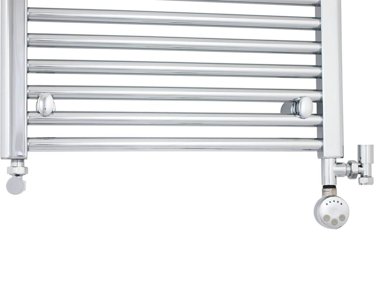 Duel Fuel Kit Chrome Thermostatic Heating Element - MEG For Heated Towel Rail Radiator - Elegant Radiators
