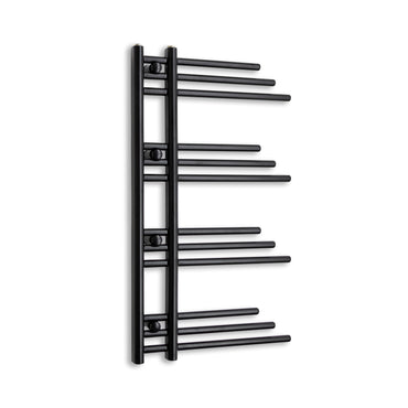 500mm Wide 900mm High Black Towel Rail Radiator