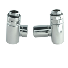 Load image into Gallery viewer, Dual Fuel Ready Corner Valve Chrome Plated for Heated Towel Rail Radiator Pair - Elegant Radiators